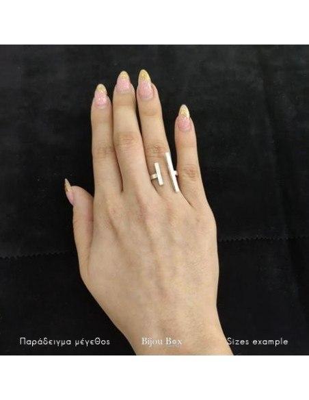 Minimal ring silver GEOMETRIK 2