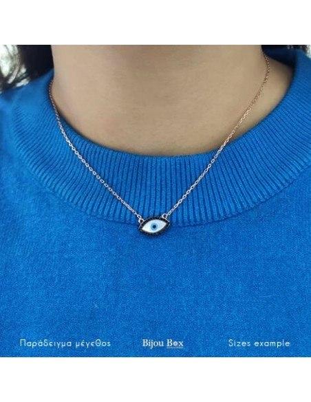 Nazar Necklace silver 925 rose gold PAROS 2