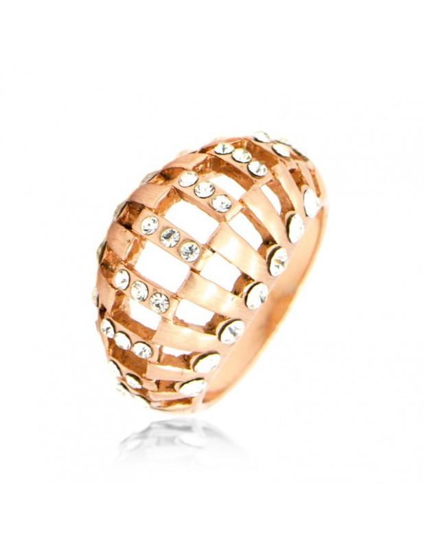 Δαχτυλίδι με ζιργκόν ρόζ χρυσο ALEXIA