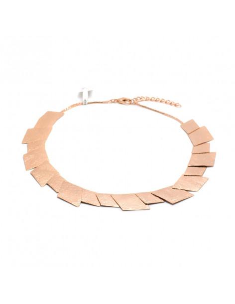 Collar necklace of bronze handmade rosegold JORD