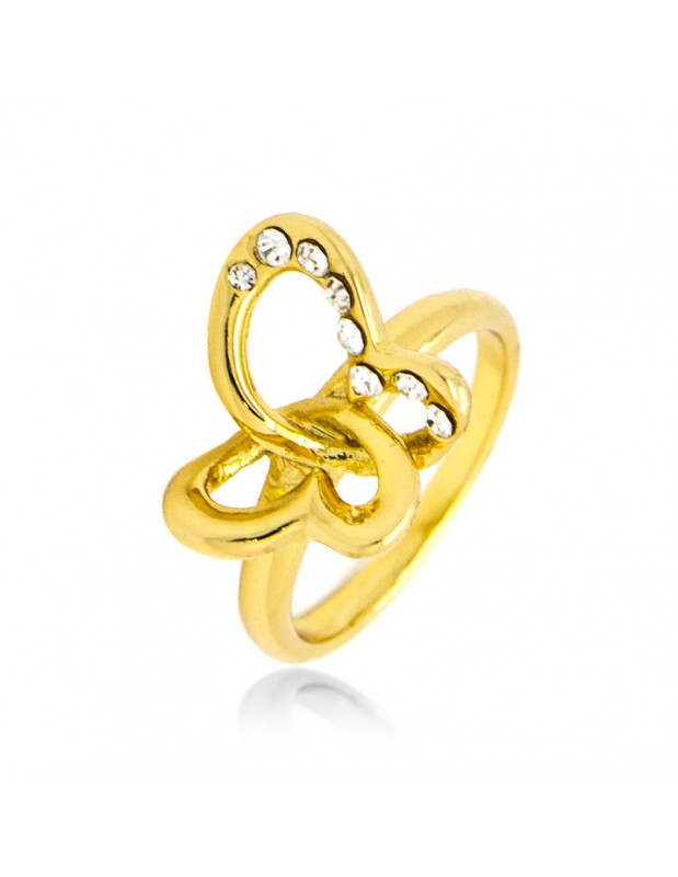 """RING GOLD PLATED """"PLATIN"""""""