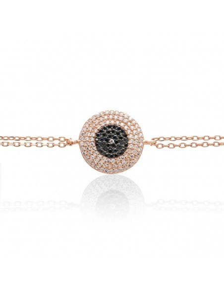 Nazar bracelet of silver 925 rose gold plated ERMIS