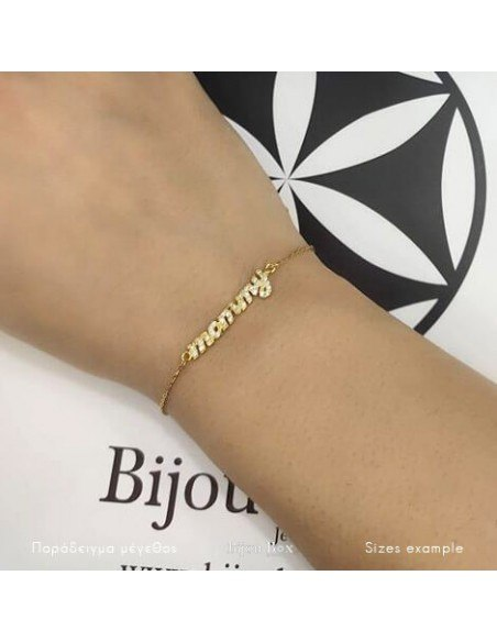 Bracelet mommy of silver 925 gold plated MM 2