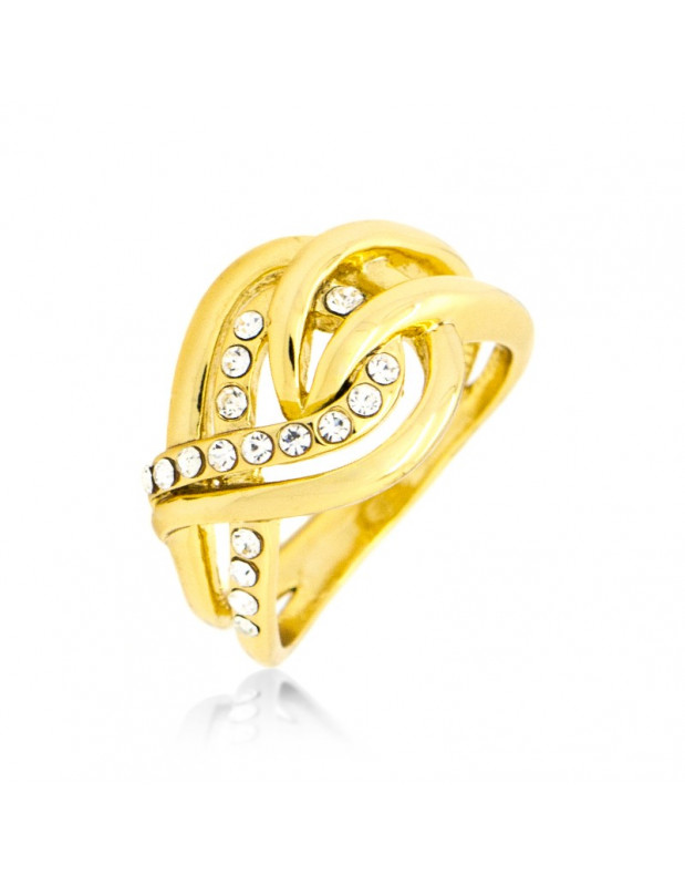 "RING GOLD PLATED ""CETTA"""