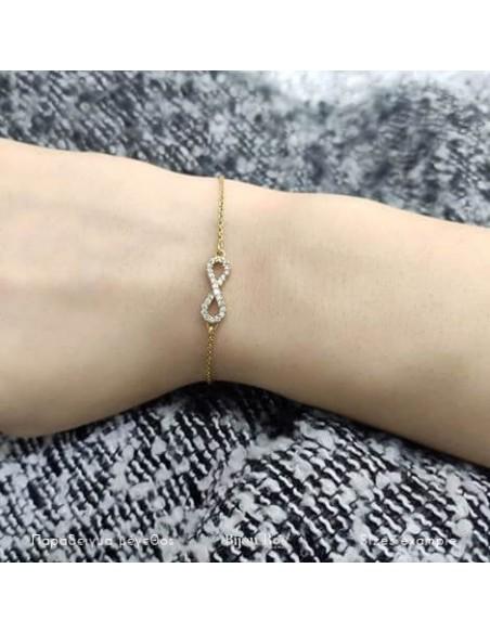 Infinity bracelet of silver 925 gold plated SERVE 2