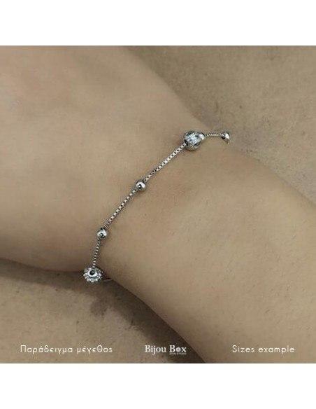 Bracelet of sterling silver GLOBE 2