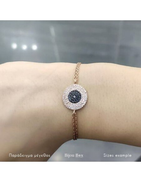Nazar bracelet of silver 925 rose gold plated ERMIS 3