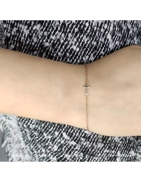 Cross bracelet of silver 925 rose gold plated A20140815 2