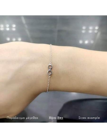 Silver bracelet with zirconia stone INFINITY 2