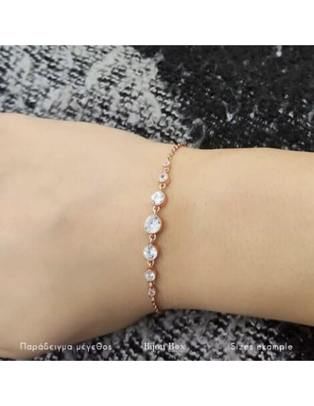 Bracelet of silver 925 with zirconia stones rose gold plated JUNE 2