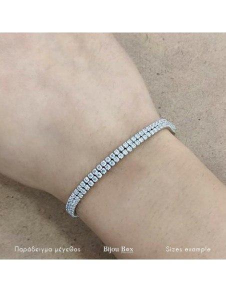 Double rhinestone Bracelet of sterling silver DUBLE 3
