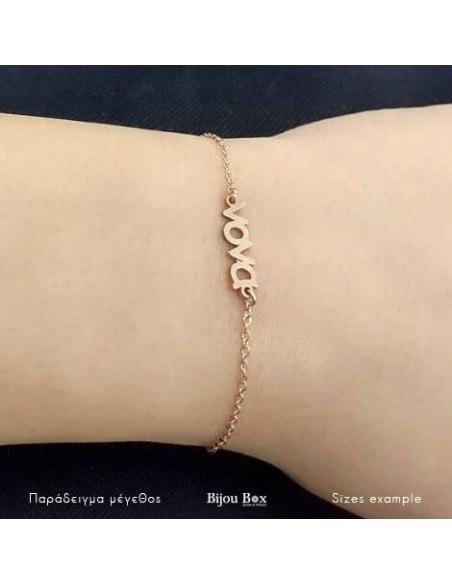 Silver bracelet Nona rose gold plated FERBI 2