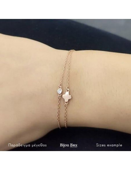 Bracelet of silver 925 rose gold plated TOEE 2