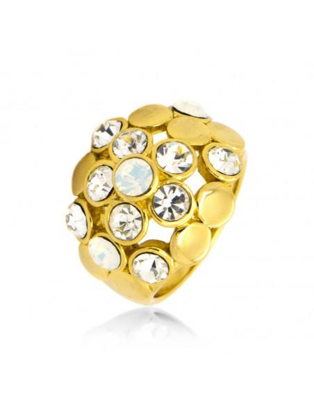 Δαχτυλίδι με ζιργκόν χειροποίητα χρυσό LOLI