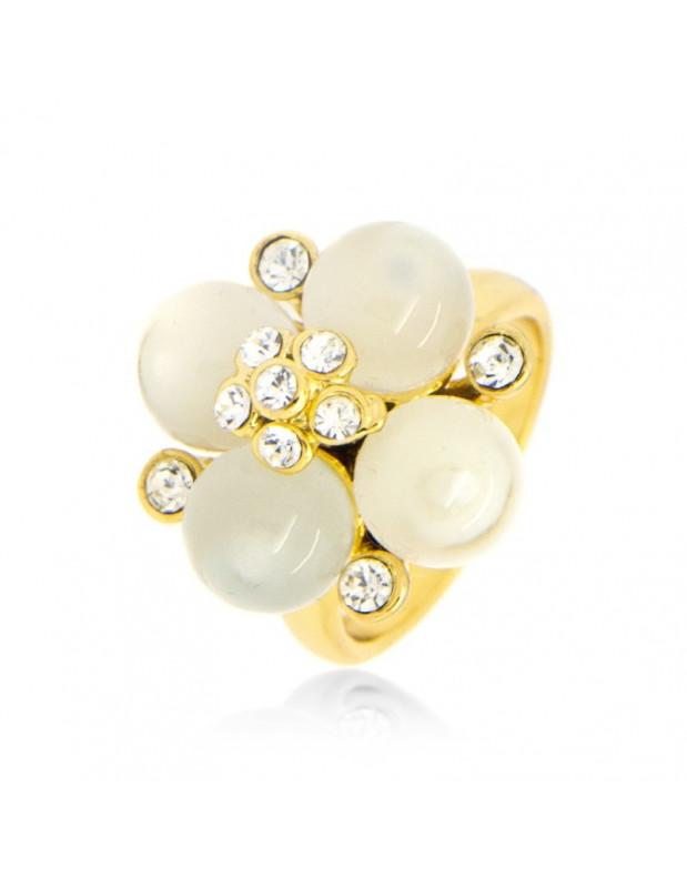 Δαχτυλίδι με μαργαριτάρια χειροποίητα χρυσό TEA