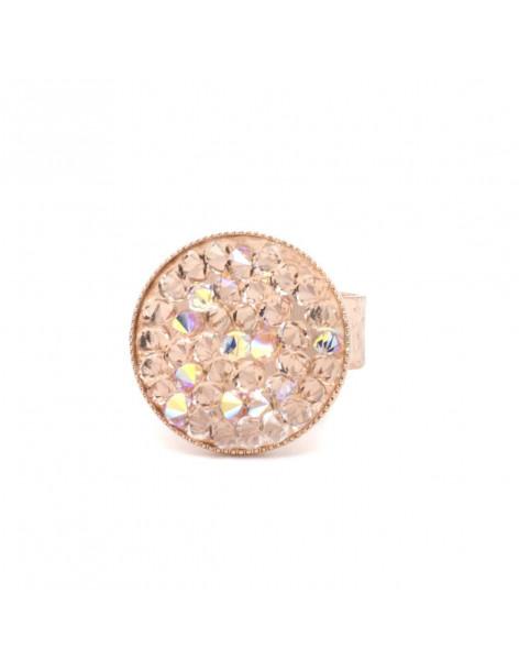 Δαχτυλίδι με ζιργκόν Swarovski® Elements ροζ χρυσό BLIT