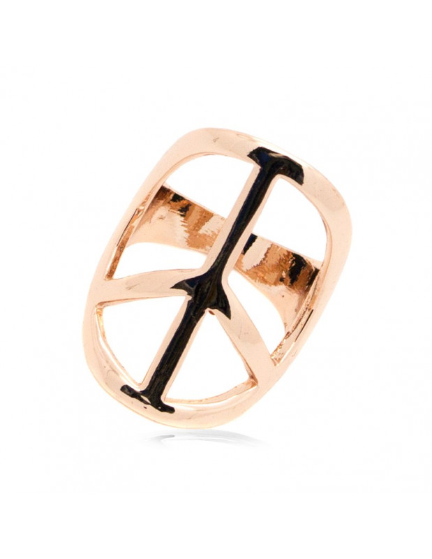"RING ""PEACE"" 18K ROSÈGOLD VERGOLDET"
