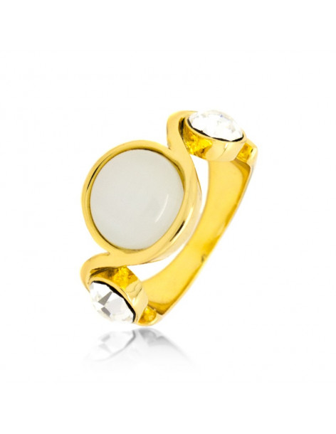 "RING GOLD PLATED ""LETITA"""