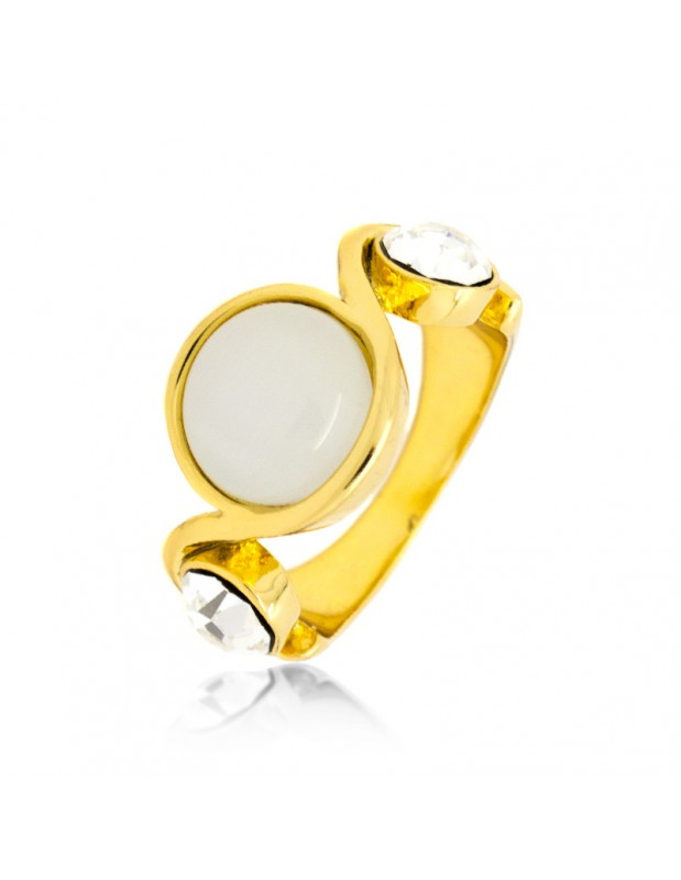 Ring with crystals gold LETITA