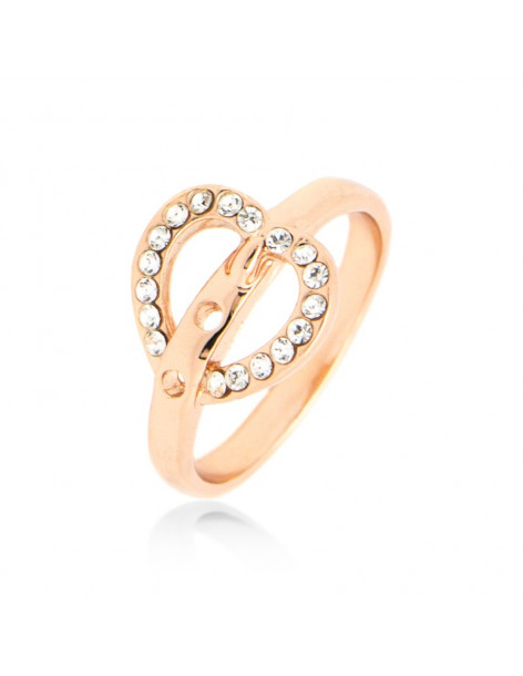 "RING ROSE GOLD PLATED ""KARDOULA"""