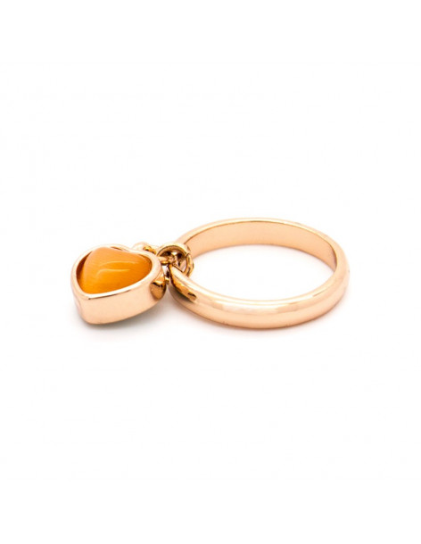 "RING ROSE GOLD PLATED ""CINIA"""