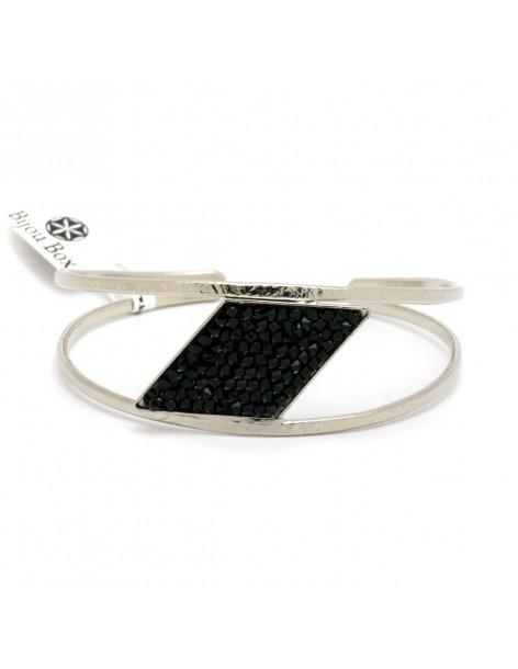 Bangle bracelet with Swarovski® Elements silver SAMOTHRAKI