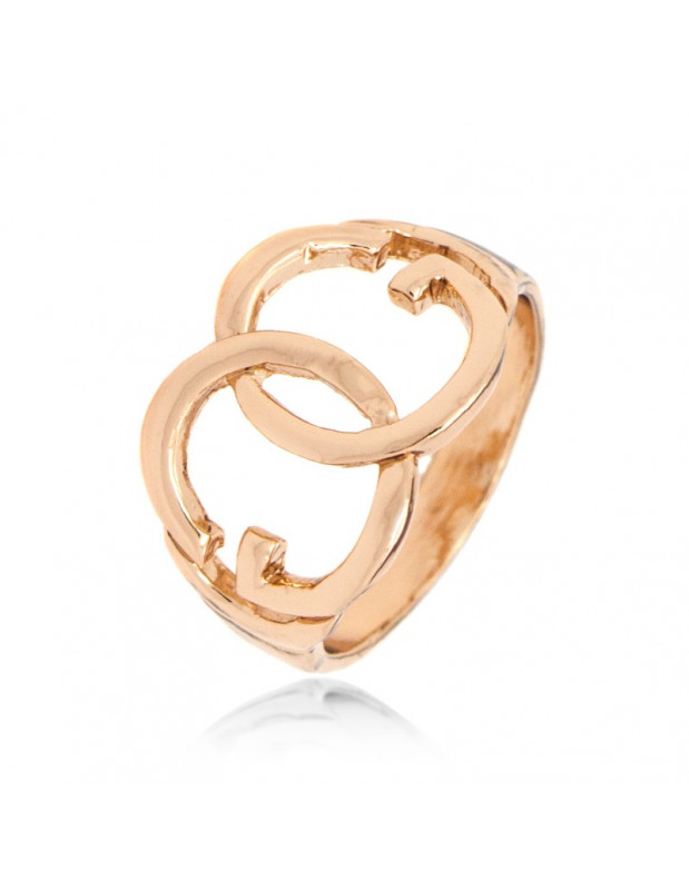 "RING ROSE GOLD PLATED ""ZERO`S"""