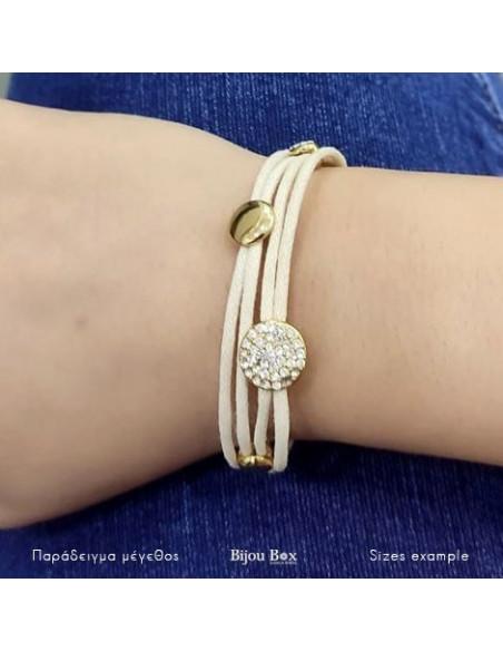 Stoff Armband gold ROUND 2
