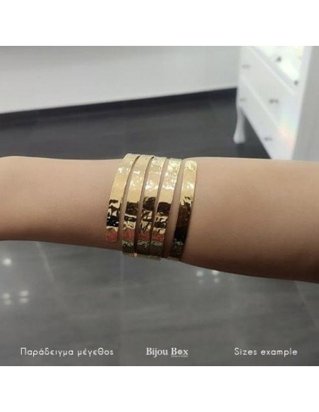 Greek Designer bangle bracelet gold SERIO 2