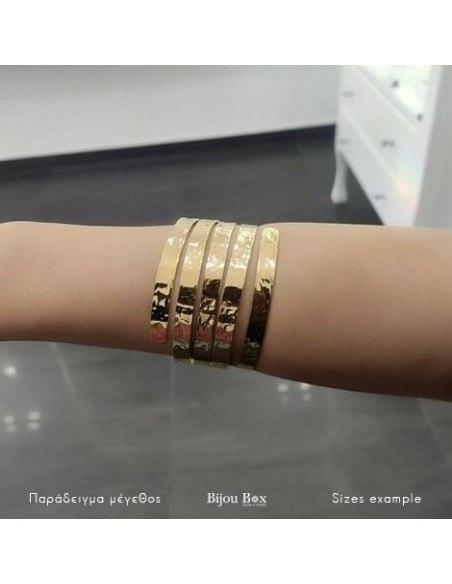 Greek Designer bangle bracelet gold SERIO 2