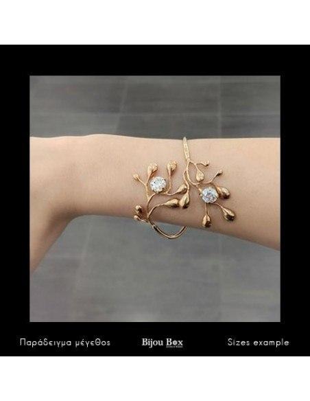 Greek Designer bangle bracelet rose gold REDO 2