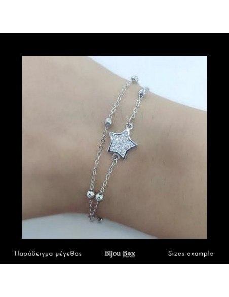 Βραχιόλι από γνήσιο ασήμι STAR 2