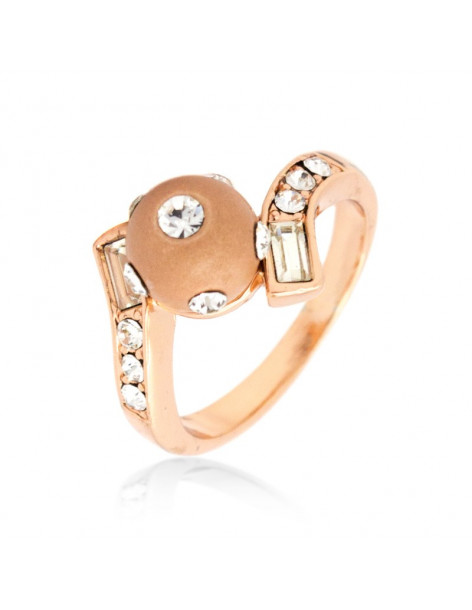"RING ROSE GOLD PLATED ""BULLY"""