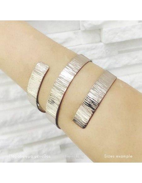 Greek designer bangle bracelet rose gold ANUKET 2