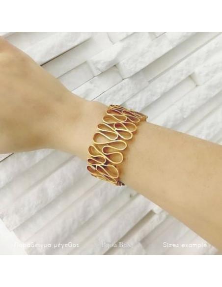 Greek designer bangle bracelet gold HEID 2