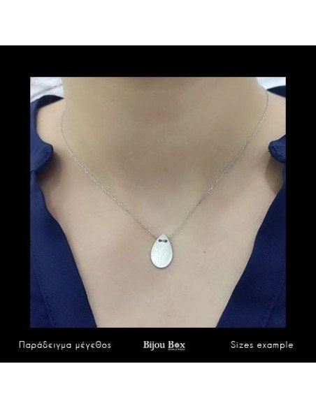 Necklace of sterling silver minimal OREY 2