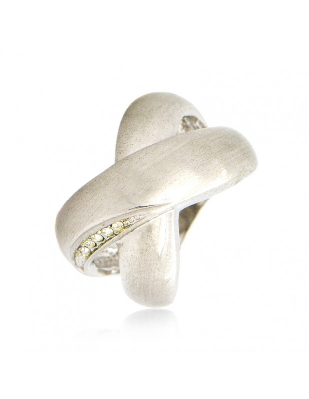"RING WHITE GOLD PLATED ""LIGIRI"""