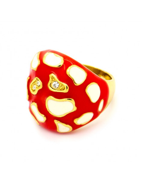 Statement Ring Fliegenpilz rot gold SEGO
