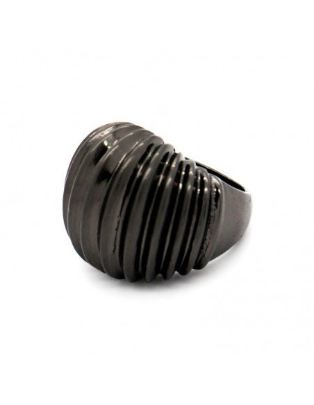 Statement Ring black GEO 2