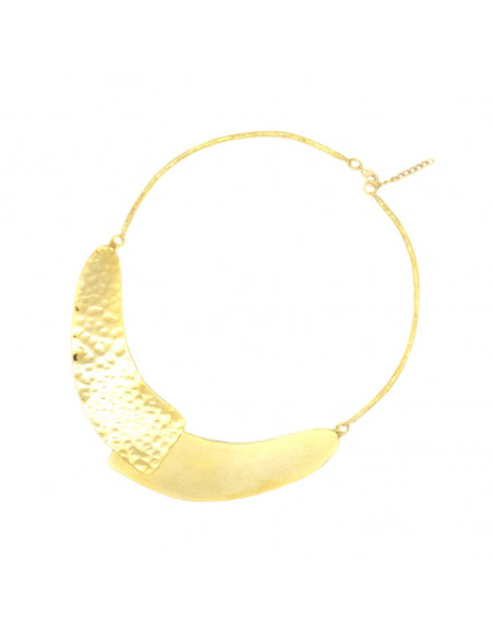 Collar Necklace of gold plated bronze ALISA 3