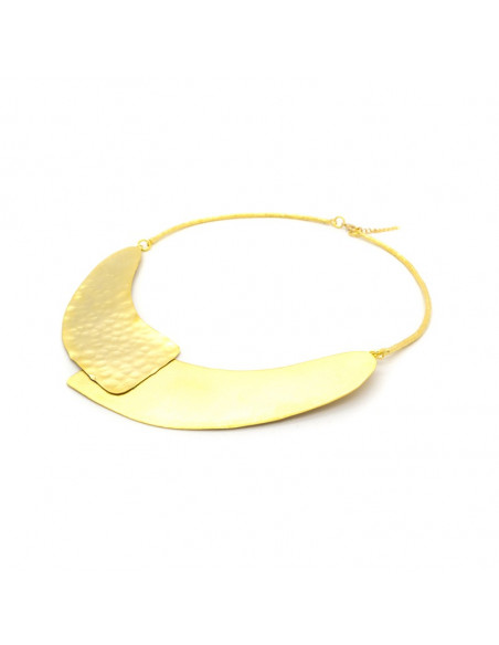 Collar Necklace of gold plated bronze ALISA