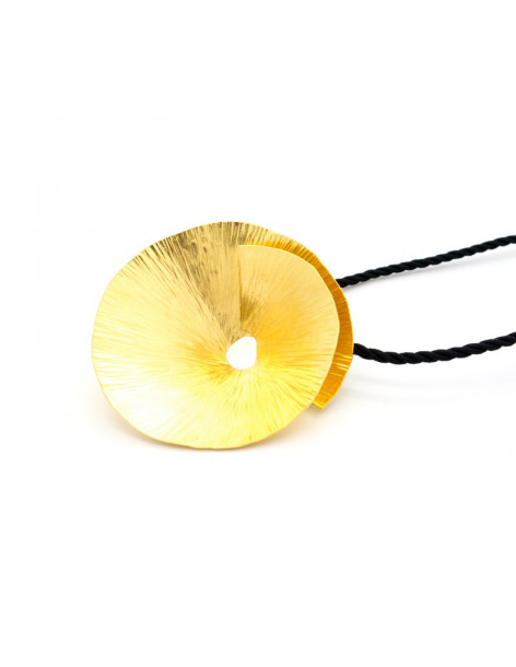 Necklace of bronze handmade gold EROP