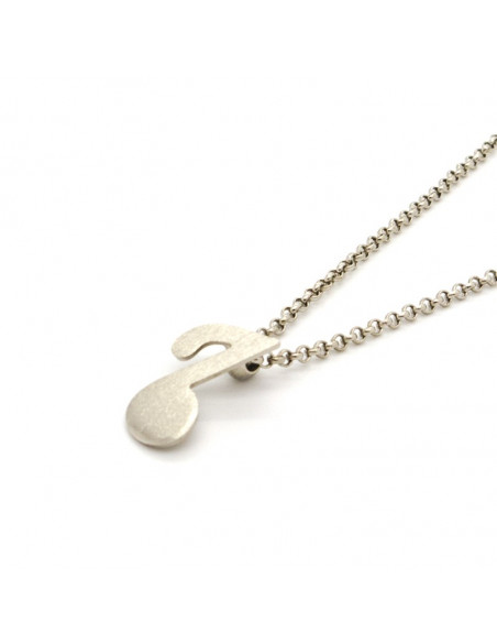 "NECKLACE BRONZE NECKLACE WHITE GOLD PLATED HANDMADE ""NOTA"""