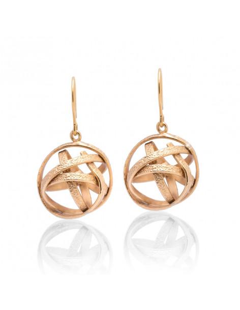 Grecian Earrings of bronze rose gold TOULON