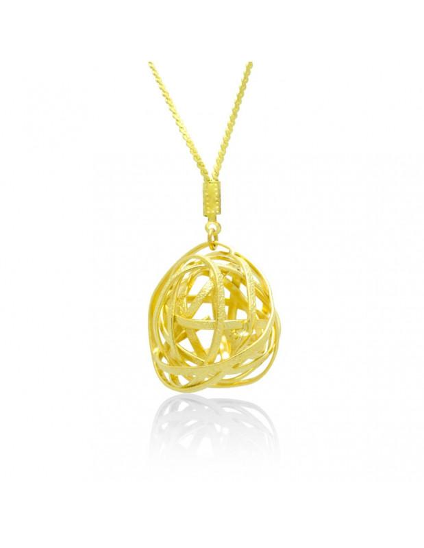 Lange Statement Halskette gold TOULON