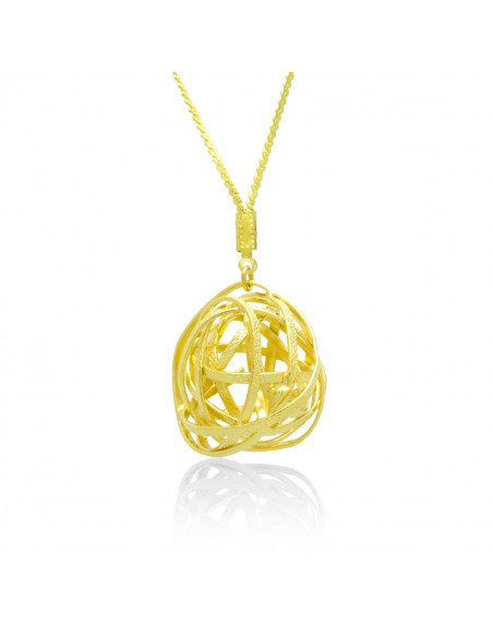 Long statement necklace gold TOULON