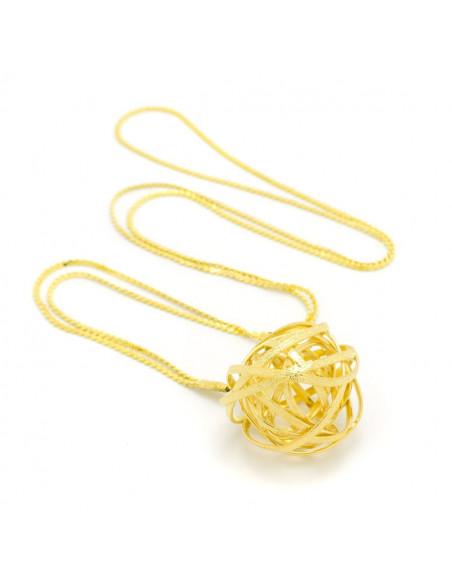 Long statement necklace gold TOULON 2