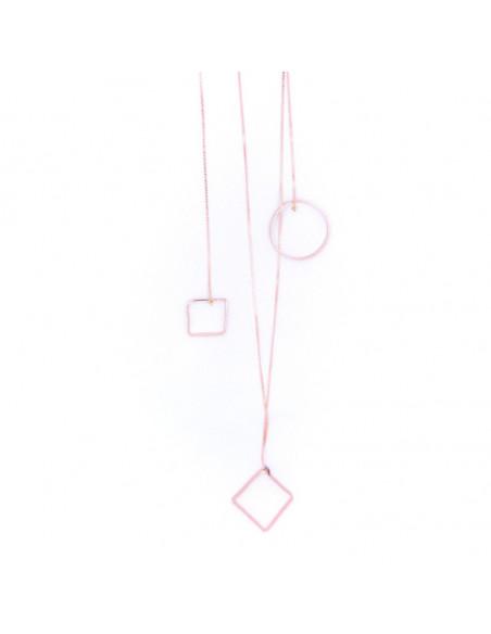Μακριά Κολιέ με στοιχεία από μπρούτζο ροζ χρυσό RENA 3