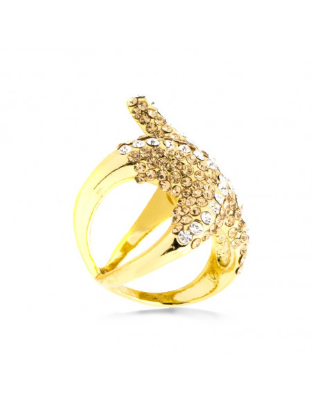 Ring gold plated SEASTAR 2