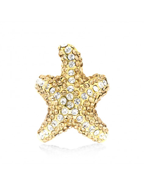 Ring gold plated SEASTAR
